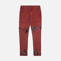 Strapped Up Vintage Washed Utility Pants Rust