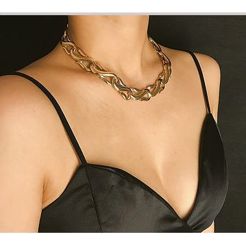 Chunky Gold Silver Chain Necklace Choker
