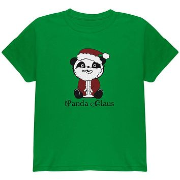 Christmas Panda Santa Claus Cute Youth T Shirt