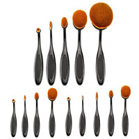 2016 Hot Sale 5pcs/4pcs Toothbrush Shape Foundation Makeup Brushes Set Cosmetic Big Oval  Brush Tool