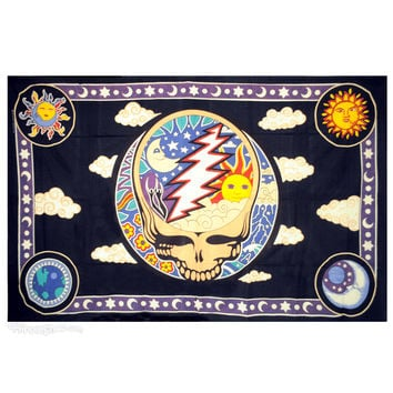 Grateful Dead - Day & Night Steal Your Face Tapestry on Sale for $26.95 at HippieShop.com