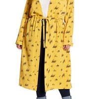 Melrose and Market | Printed Satin Trench Coat (Plus Size) | Nordstrom Rack