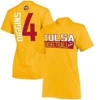 Licensed Sports Skylar Diggins Tulsa Shock Women's Name & Number T-Shirt - Gold KO_20_2