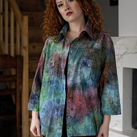 Shirt / Psychedelic / Unique Tie Dye/ TieDye / Hand made / Colors / Psytrance
