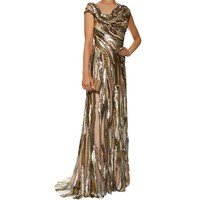 Jenny Packham Sequin Illusion Gown | Harrods.com