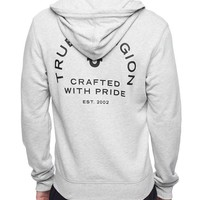 True Religion Crafted With Pride Mens Hoodie - Heather Grey