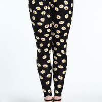 PLUS SIZE FLOWER PRINT LEGGINGS