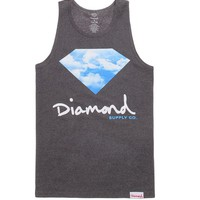 Diamond Supply Co Clouds Script Tank Top - Mens Tee - Black - Large