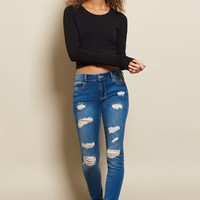 Original Distressed Super Soft High Waist Jegging