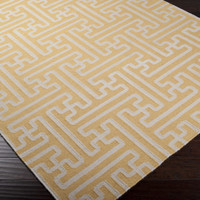 Archive Area Rug | Gold Geometric Rugs Hand Woven | Style ACH1707