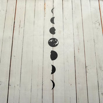 Vinyl Wall Decal Moon Phases