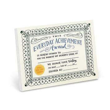 Everyday Achievements Award Notepad - 75 Fill-In Awards!