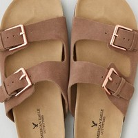 AEO Double Buckle Sandal, Gray
