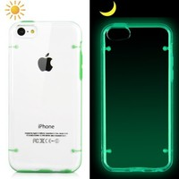 iCustomized (TM) Green and Translucent Glow in the Dark Luminous Premium Ultra Thin and Sleek Hybrid Hard Case for the NEW Apple iPhone 5C - AT&T, Verizon, Sprint
