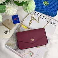 TB TORY BURCH WOMEN'S LEATHER KIRA MINI INCLINED CHAIN SHOULDER BAG