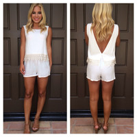 Brunch In Barbados Romper - IVORY