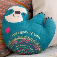 Sloth Happy Pillow