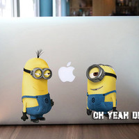 minion macbook decal/Decal for Macbook Pro, Air or Ipad/Stickers/Macbook Decals/Apple Decal for Macbook Pro / Macbook Air/laptop 13130