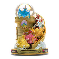 Disney Paris Princess Staircase Musical Snowglobe New with Box