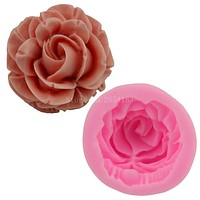 Flower Bloom Rose shape Silicone Fondant Soap 3D Cake Mold Cupcake Jelly Candy Chocolate Decoration Baking Tool Moulds FQ2825