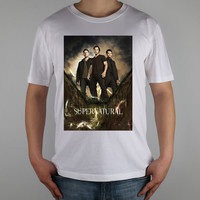 Supernatural Top Pure Cotton Compilation limited edition poster fan art T-shirt