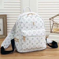 Louis Vuitton LV Classic Zipper Punk Rivet Backpack Fashion Ladies Backpack Bag