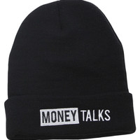 Young & Reckless Men's Talking Slogan Knit Beanie Skull Cap