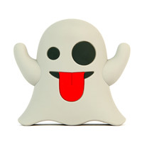 I liked this design on #Fab. Ghost Emoji Portable Charger
