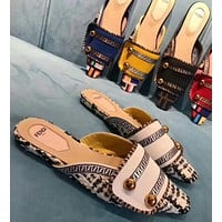 Fendi Fashion Slippers and Sandals