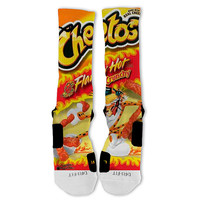 Hot Cheetos Fast Shipping!! Nike Elite Socks Customized CHEETOS