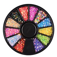 Nail Art 1 PC Diamonds Design 3D All For Manicure Strass For Nail Art 12-plate disc nails colorful laser sequins Y40
