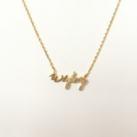 Wifey Pendant Necklace In Gold
