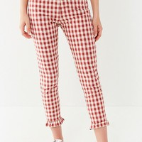 Capulet Gingham Ruffle Cropped Pant | Urban Outfitters