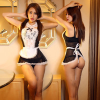 Sexy Costume Erotic Lingerie Set  Hot Lace French Maid