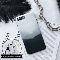 Mount Fuji man Case for iPhone7 7plus 6plus 6splus for Apple iPhone 6 / 6s Soft TPU Cover -0317