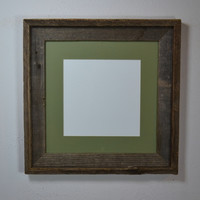 Picture frame 12x12 with mat for 10x10,8x8 or 8x10 handcrafted in the USA
