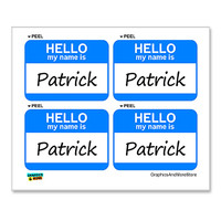 Patrick Hello My Name Is - Sheet of 4 Stickers