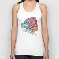 Yas Queen Eyptian Broad City Print Unisex Tank Top by BigKidult | Society6