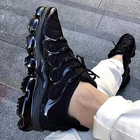 Nike Air Vapormax Plus Trendy Fashion Casual Wave line Sneakers Casual Shoes Full Black