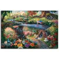 Alice In Wonderland By Thomas Kinkade Canvas Posters Prints Wall Art Painting Decorative Picture Modern Home Decoration No Frame