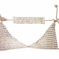 SET BRALETTE AND CHOKER DUO