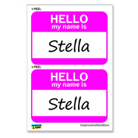 Stella Hello My Name Is - Sheet of 2 Stickers