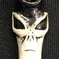 Alien Face Ceramic Hand Pipe