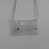 SUMMER SALE- 15% OFF Clear Cross Body bag, See through bag, vinyl bag