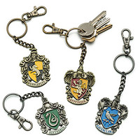 Harry Potter: House Crest Keychains