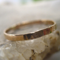 Stacking Ring Gold 2mm Wide 14