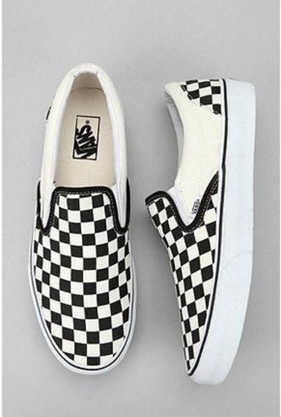 Image of Vans Slip-On Old Skool Fashion Checkerboard Canvas Sneakers Sport Shoes