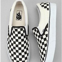 Vans Slip-On Old Skool Fashion Checkerboard Canvas Sneakers Sport Shoes