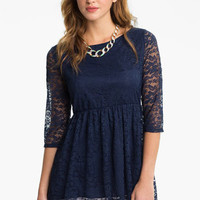 Living Doll Lace Babydoll Top (Juniors)   Nordstrom