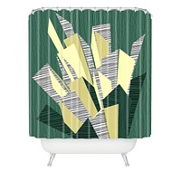 Raven Jumpo Sketchy Shower Curtain